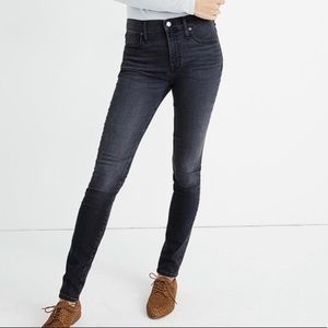 Madewell Gray / Washed Black 9 Inch Skinny Jean 27